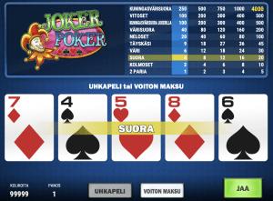 Videopokeri netissä: Jokeripokeri