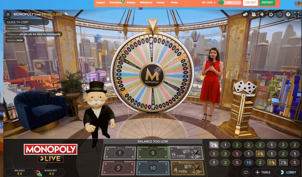 Monopoly Live rahapeli
